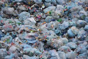 plastic bottles and garbage